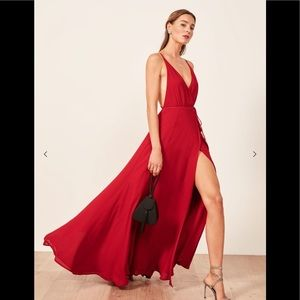 Reformation Callalily Red Dress